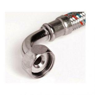 Tubo flexível malha de aço inox c/ curva